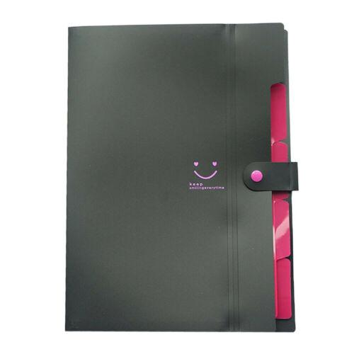 A4 File Document Bag Pouch Bill Folder Holder Organizer Fastener Office Supplies