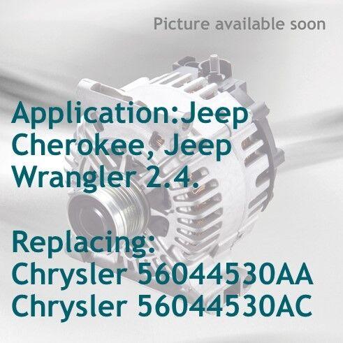 Alternador Jeep Cherokee 2.4 gasolina Wrangler 2.4 gasolina
