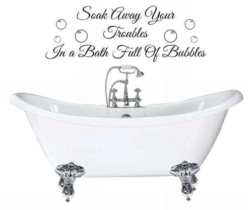 Etiqueta engomada de la impregnación lejos tus problemas Baño Pared Citas Pared Arte Calcomanía Adhesivo