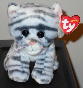 869bd096154 Ty Beanie Baby ~ MILLIE the Gray Striped Kitty Cat (6 Inch) NEW MWMT ...