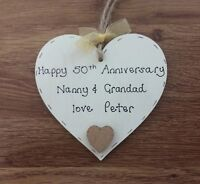 Personalised gift for grandparents 50th/golden wedding anniversary
