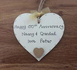 Details Sur Cadeau Personnalise Pour Les Grands Parents 50th Dore Anniversaire De Mariage Afficher Le Titre D Origine