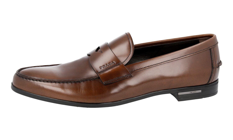 Luxe Prada Penny Mocassins Chaussures 2da119 NOCCIOLO NEUF 46 12 46 NEUF 46,5 a7fbd3