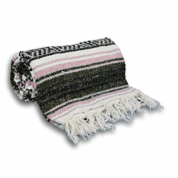 #11 Rose Gray Mexican Falsa Blanket Great Beach Picnic Yoga Open Road Bed Throw