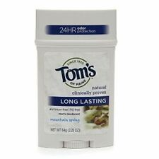 Toms of Maine Mens Long Lasting Stick Deodorant, Mountain Spring 2.25 oz