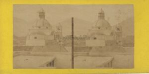 Eglise-San-Isidro-Madrid-Spagna-Foto-Stereo-Vintage-Albumina-Ca-1870