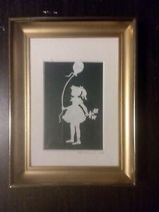 Helen Heilemann Signed Framed Matted Folk Art Paper Cut Circa 1994