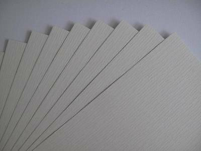 40 x A4 Milk White 1-Sided Laid Textured Paper 110gsm  Cardmaking AM330