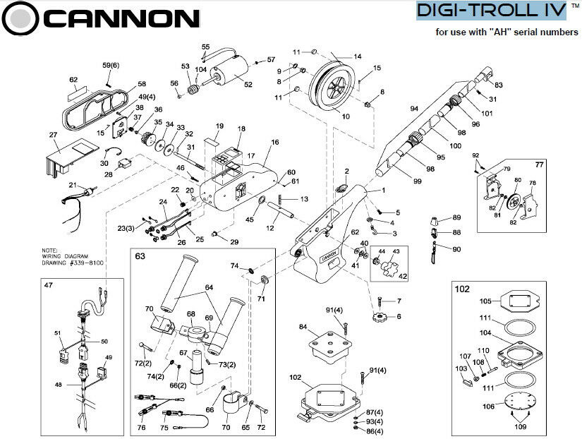 Cannon Downrigger Digi-Troll IV Replacement Motor