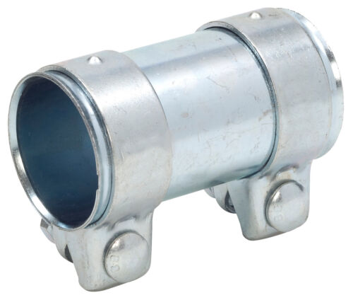 Rohrverbinder  51x125 mm gerade universal  Stahl verzinkt mit Schrauben Auspuff