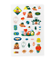 miniature 9 - Official BTS BT21 Green Planet Clear Sticker +Freebie +Free Tracking KPOP