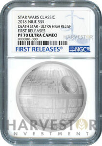 STAR-WARS-DEATH-STAR-ULTRA-HIGH-RELIEF-2-OZ-COIN-NGC-PF70-FIRST-RELEASES