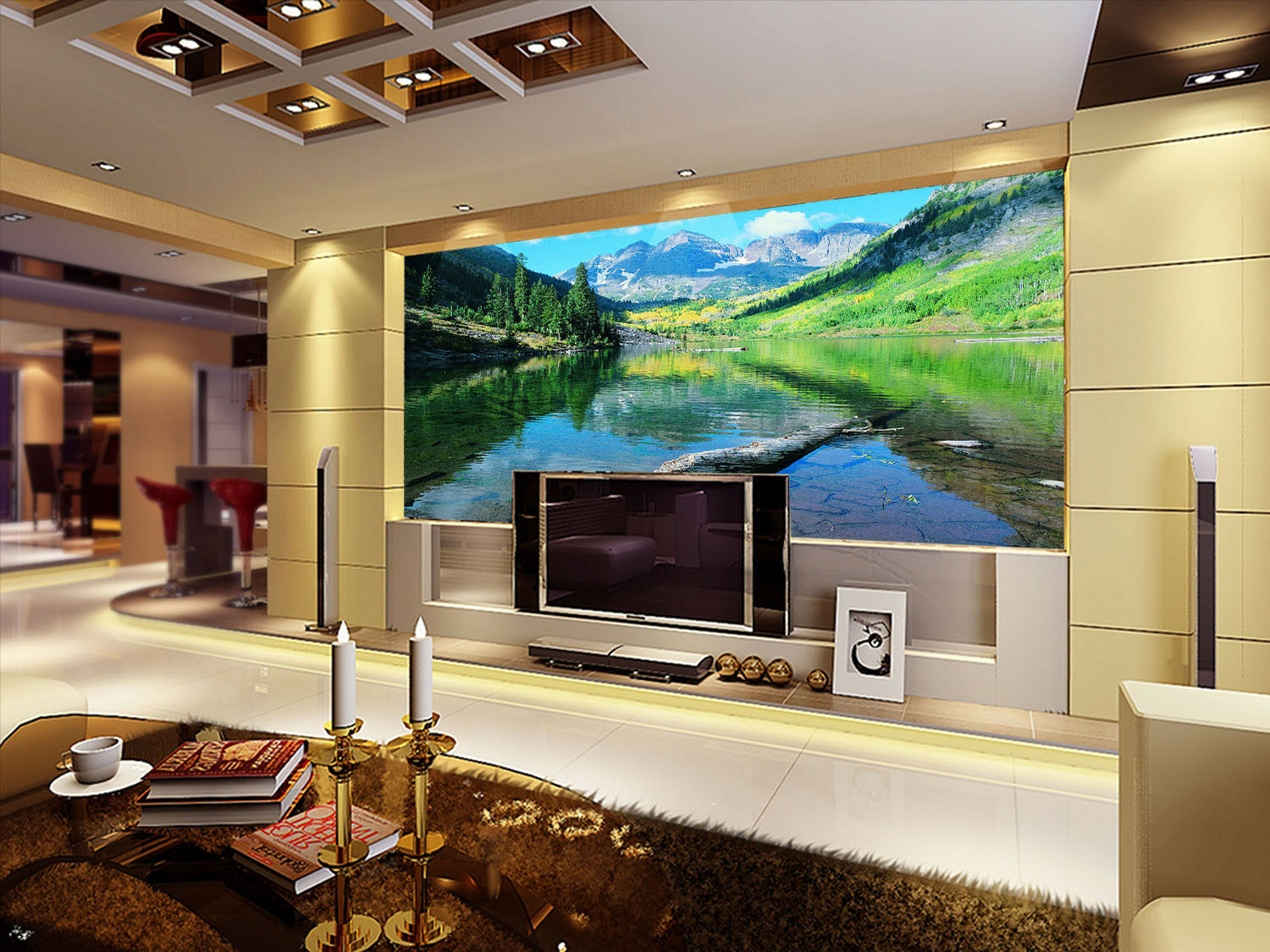 3D Spring Landscape 53 Wall Paper Wall Print Decal Wall Deco Indoor Mural Summer