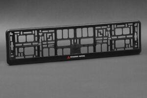2-x-Mitsubishi-Euro-License-Number-Plate-Frame-Tag-Holder