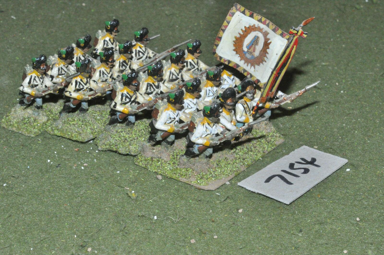 25mm napoleonic   austrian - infantry 20 figs painted metal - inf (7154)