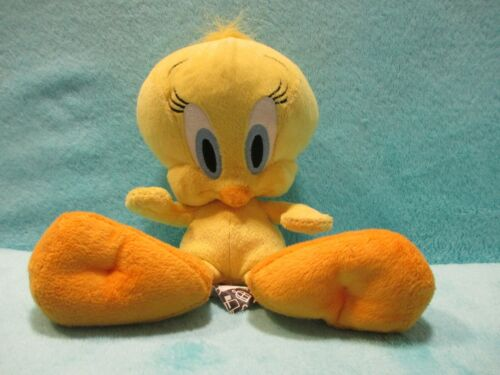 "Soft Plush Beanie Teddy Toy 8/"" TWEETY BIRD Looney Tunes Boots Warner Bros"