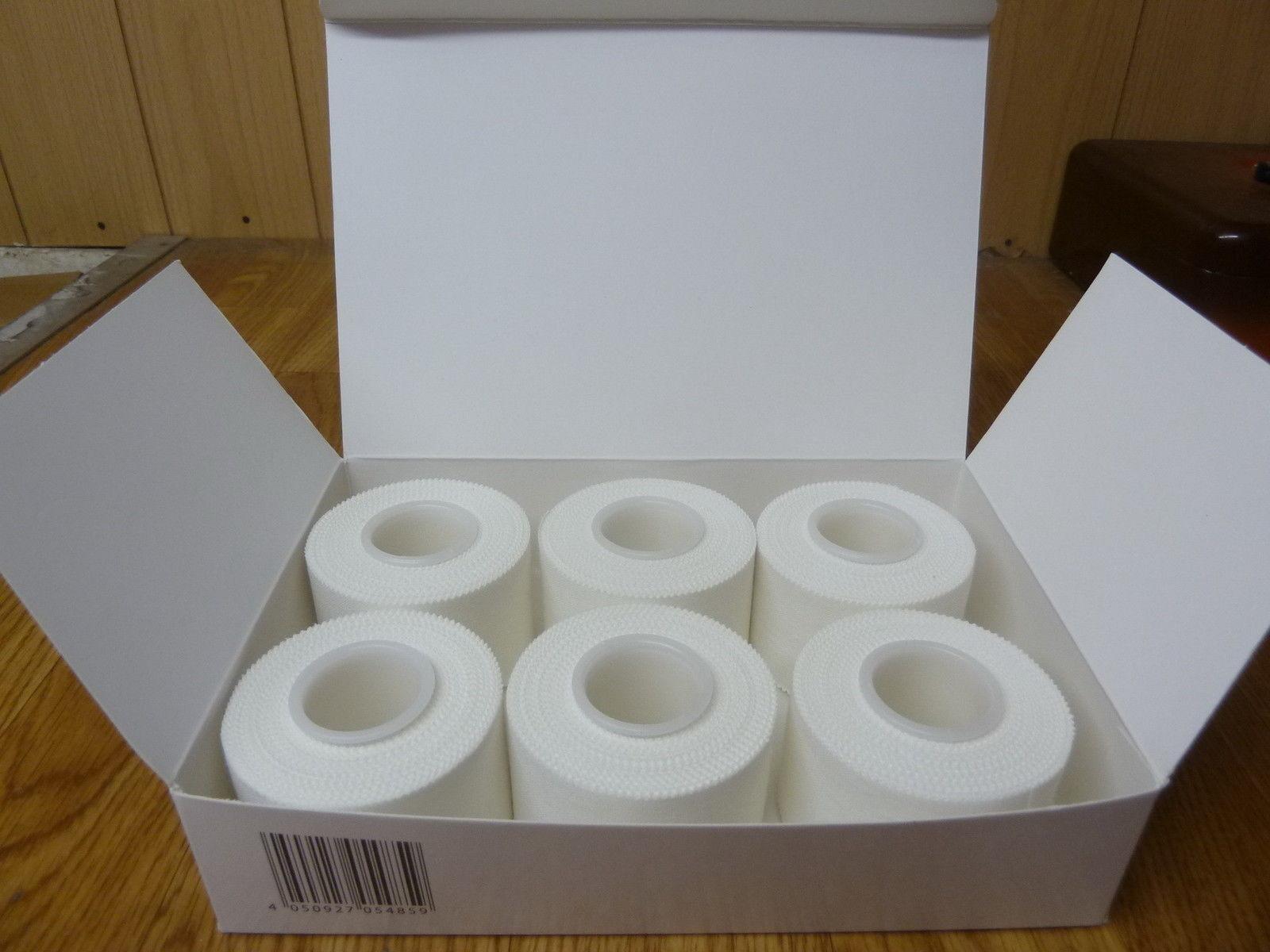 5 Rollen Sporttape 10m x 3,75 cm Fußball weiß