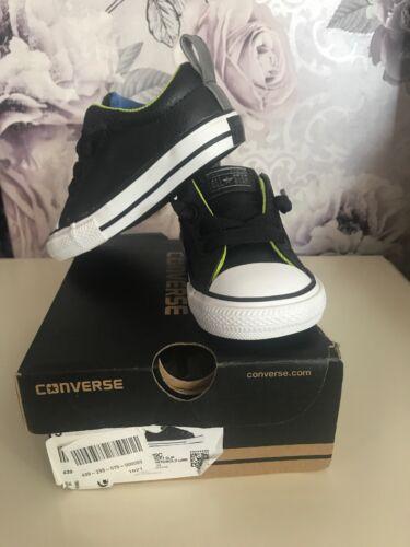 niños para cuero negro Converse de Street Slip 5 HWcRq808