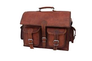 Men-039-s-Leather-New-Bag-Messenger-Laptop-Shoulder-Business-Briefcase-Handbag-Brown