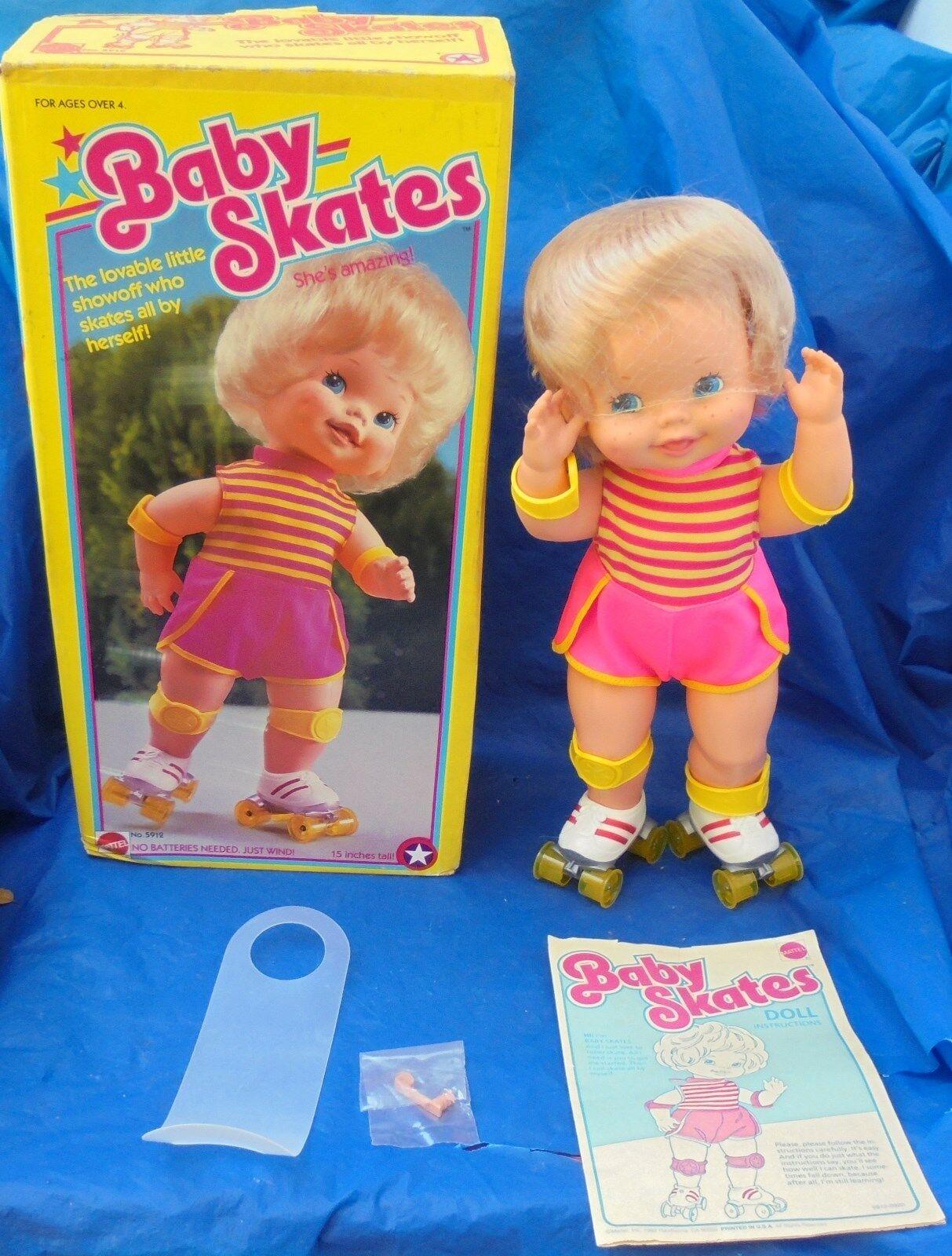Patines de bebé Muñeco Completo en Caja 1982 Mattel Retro Buen Estado Coleccionable