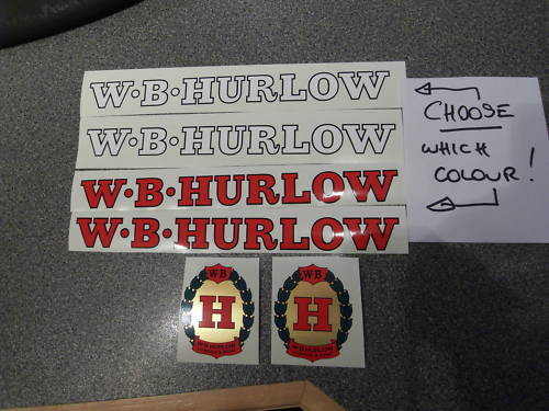 WB HURLOW decal set.