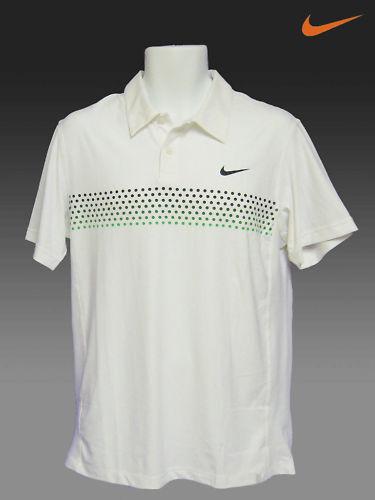 Nuevo Nike  Tenis Drifit Polo Federer blancoo Apagado con verde Puntos L  venderse como panqueques