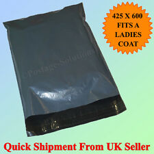 20 Strong Grey Mailing Packaging Plastic Bags Large Size 17'x 24' QUICK DELIVERY