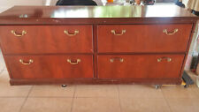 4 Drawer Size Credenza By Steelcase Office Furniture In Mahogany Wood Used