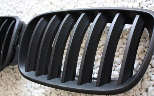 SCHWARZ MATT LINKS GRILL FRONTGRILL KÜHLERGRILL SATU BMW E70 X5 2006 RECHTS