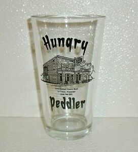 Hungry-Peddler-Tumbler-Beer-Glass-Cup-Restaurant-Ware-Advertising-Wisconsin