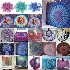 Mandala-Tapisserie-Wandbehang-Wandteppich-Deko-Hippie-Picknick-Boho-Strandtuch