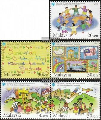 Weltkindertag Extremely Efficient In Preserving Heat Stamps Lovely Malaisie 1224-1228 Avec Couples Neuf 2003 50