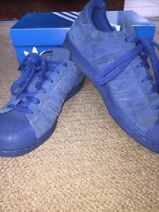 Image is loading Blue-Suede-Superstars-Size-6 f84a221db7b3