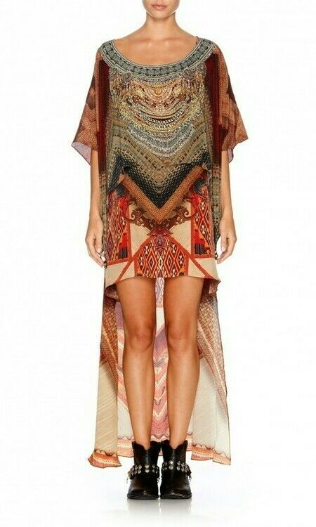 Camilla Cloaking Humanity layered short front kaftan (Rrp )