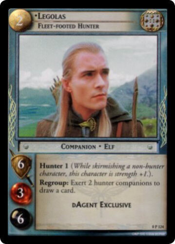 LOTR TCG 0P124 Legolas Fleetfooted Hunter DAgent Foil Promo MINT