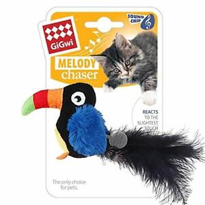 Gigwi-Toucan-Sound-Cat-SqueakToys-Bird-Furry-Tail-with-Feather-Melody-Chaser