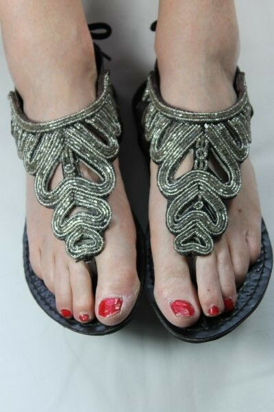 HAND Crafted Cinturino delle Donne Caviglia Alta Sandali Cinturino Crafted In Pelle Con Perline SPEDIZIONE GRATUITA e9630d