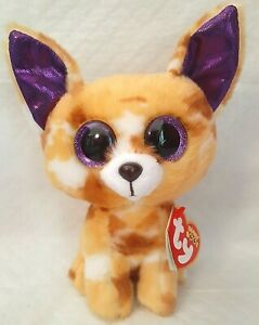 """Ty NEW Beanie Boo Boos PABLO the Chihuahua 7"""" Glitter Eyes with RED Tag"""
