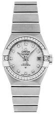 Omega Constellation Women Diamonds MOP 27MM Watch 123.15.27.20.55.001