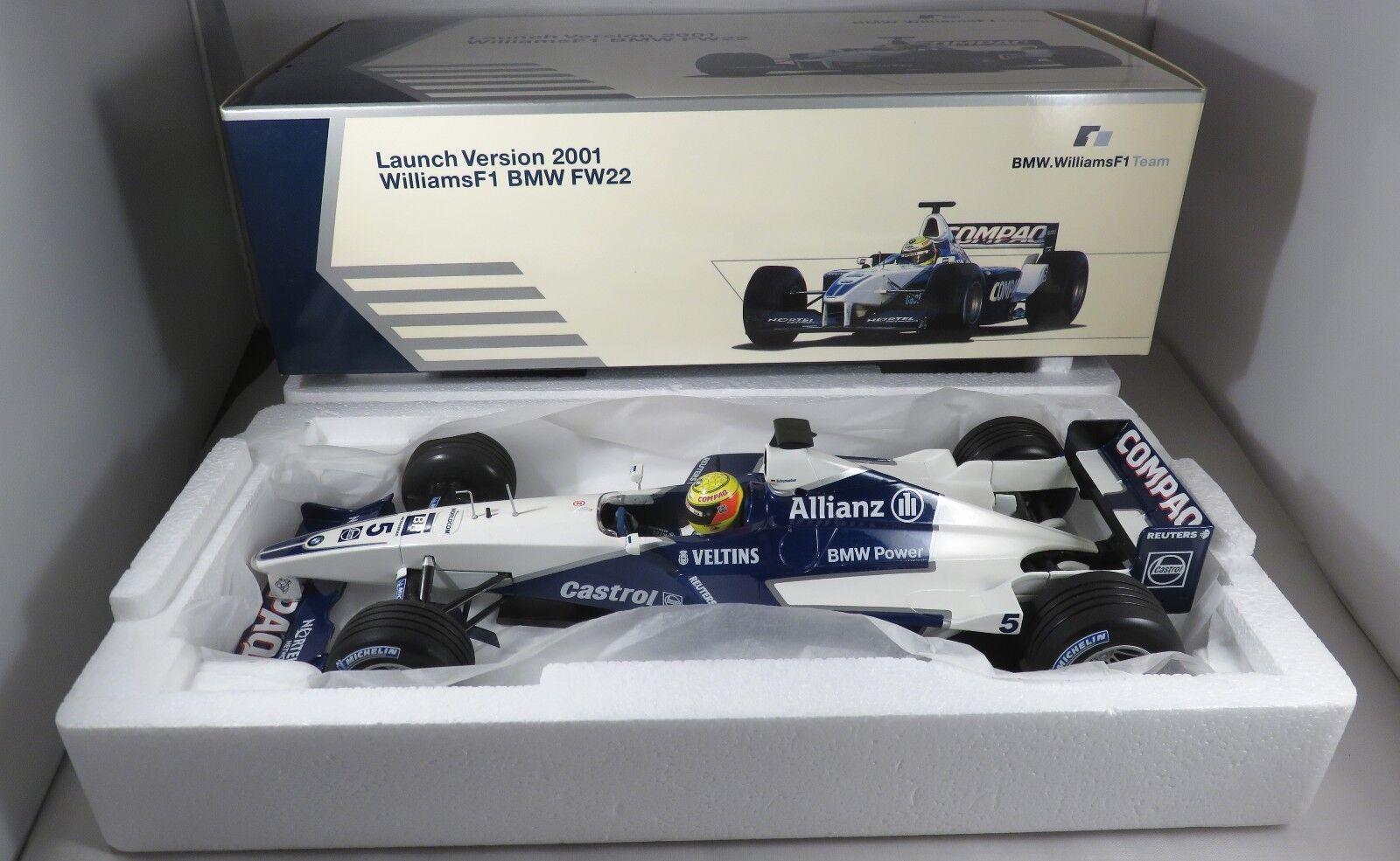 WILLIAMS FW23 #5 Ralf SCHUMACHER SCHUMACHER SCHUMACHER F1 2001 LAUNCH VERSION BMW BOX MINICHAMPS 1:18 534c6b