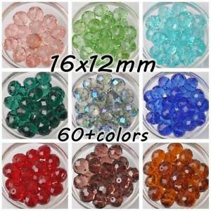 10pcs-Large-16mm-16x12mm-Rondelle-Faceted-Crystal-Glass-Loose-Beads-DIY-Jewelry