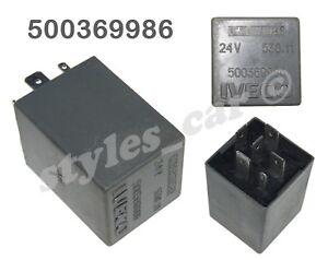 500369986-Genuine-IVECO-6-Pin-Silver-Wiper-Relay-24V-538-11