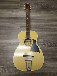 Antique Vintage Regal Acoustic Guitar Project T-11 Brown Wood
