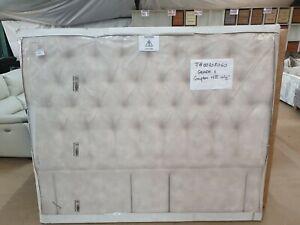 Willow-amp-Hall-Designer-velvet-Super-King-headboard-Brand-New-ivory-offwhite-grey