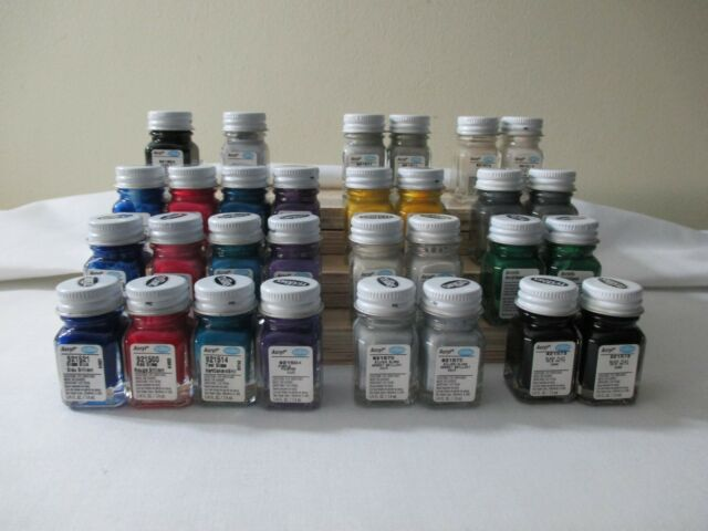 30 TESTORS ACRYLIC PAINTS 1/4 OZ PRE THINNED 4 AIRBRUSH 14 DIFFERENT COLORS NEW