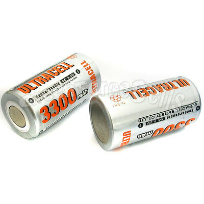 12 pcs Sub C SubC 3300mAh NiMH 1.2V Rechargeable Battery Cell Flat Top Ultracell