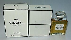 Vintage-Perfume-Bottle-Chanel-No-5-Bottle-Boxes-Late-1980s-1-OZ-Sealed-Full