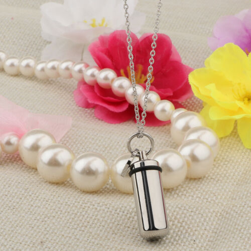 Urn Necklaces for Ashes Stainless Steel Capsule Love Heart Charm Pendant