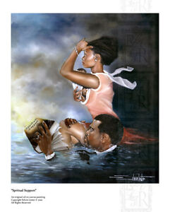 African-American-Black-Art-Print-034-SPIRITUAL-SUPPORT-034-by-Edwin-Lester