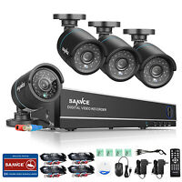 SANNCE 8CH TVI 1080N 4in1 DVR Outdoor 1500TVL CCTV Video Security Camera System